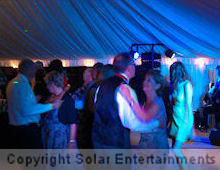 Wedding disco at Brackenborough Hall, Louth September 2012