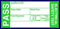 Conisbrough PAT testing labels