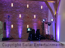 Wedding disco and karaoke setup